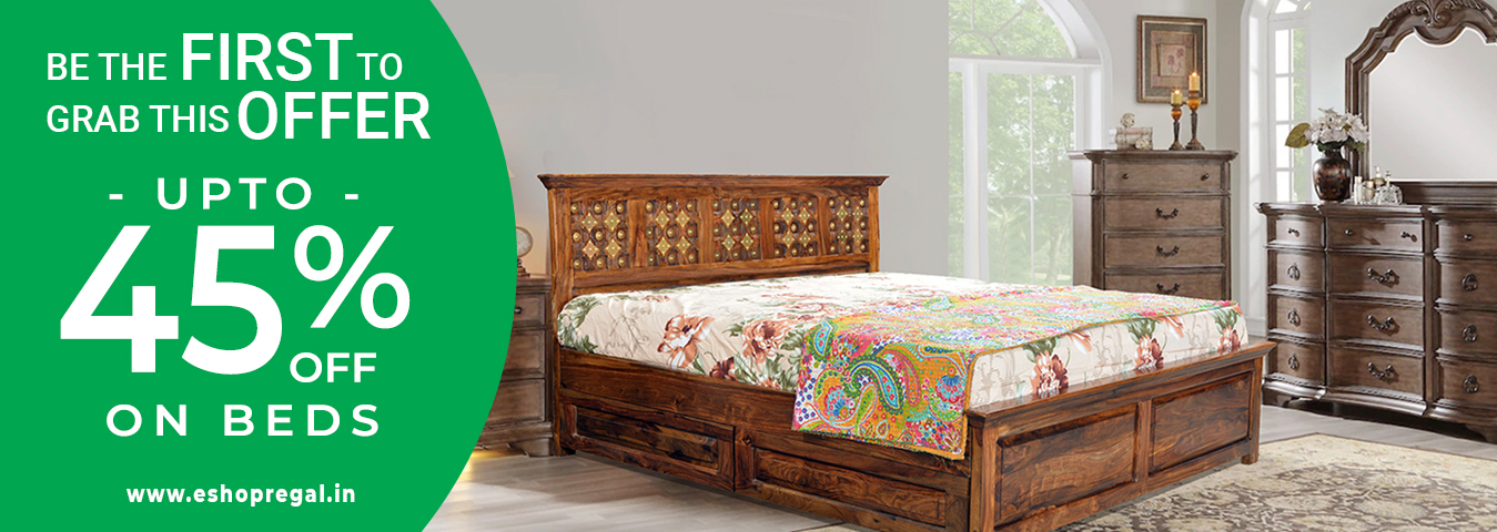 Sale Flat 45% discount on king size beds queen size bed single bed wooden bed in pune bangalore indor jaipur